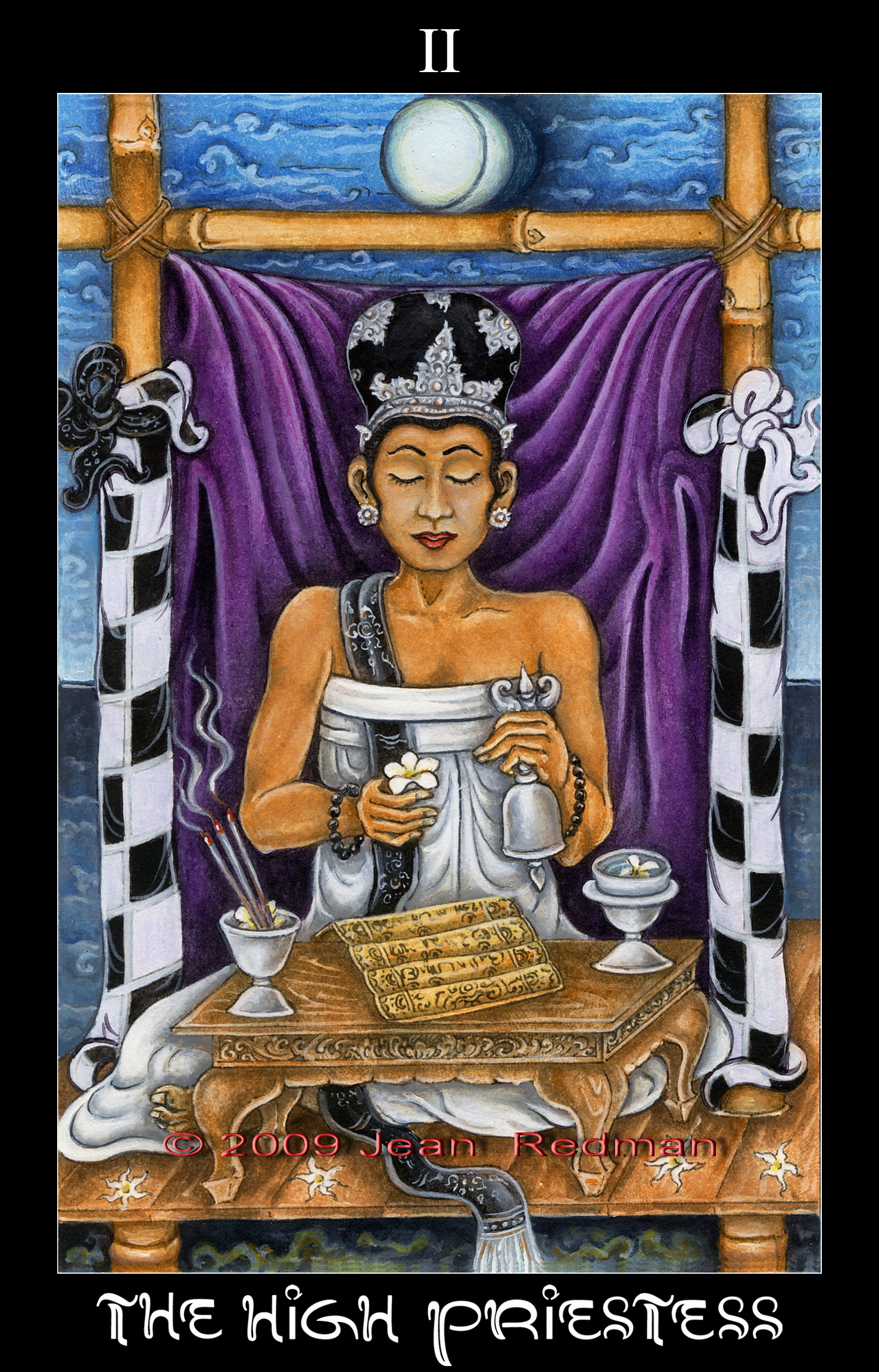 High Priestess Full Colorful Deck Major Stock Illustration: The High Priestess History Of Origin